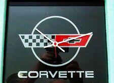 """Corvette C4 Emblem """"Rectangular"""" Wall Clock (Rare Rectangular)"""