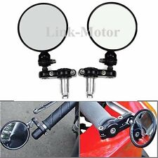 Pair Motorcycle Foldable Handle Bar End Convex Mirrors For HONDA GROM 125 MSX125