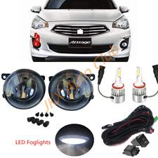 LED Fog Lights Lamp Cable Set For Mitsubishi Attrage Mirage G4 Sedan 2012-2020