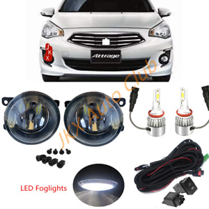 LED Fog Lights Lamp Cable Set For Mitsubishi Attrage Mirage G4 Sedan 2012-2020