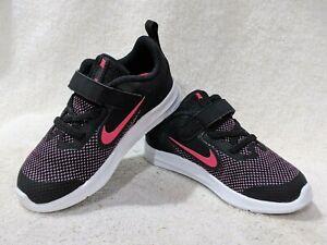 Nike Downshifter 9 (TDV) Black/Pink/White Toddler Girl's Shoes-Sz 6/7/8/9/10C NB