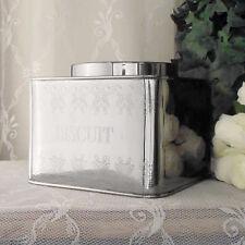Contenitore con Coperchio Metallo Vintage Shabby Chic Biscuit Angelica Home Coun