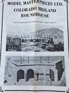 Model Masterpieces Colorado Midland Roundhouse 4 Stall Building HO HOn3 Kit #114