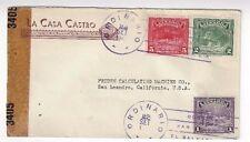 1943 San Salvador, El Salvador Commercial,Censored to San Leandro California