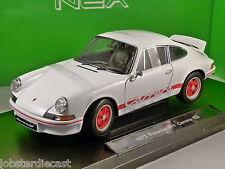 1973 Porsche 911 Carrera RS en Blanco 1/18 Escala Modelo Por Welly