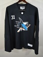 San Jose Sharks #32 Antti Niemi Jersey WOMENS 2XL Reebok Black NHL Hockey Ladies