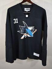 San Jose Sharks #32 Antti Niemi Jersey WOMENS 2XL Reebok Black NHL Hockey Ladies