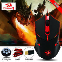 3200DPI 6 Buttons USB Mouse Pro Gaming RedragonCentrophorus M601 Weight TuningCA