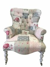 Patchwork Solid Wood Living Room Armchairs