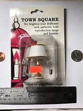 "2.5"" Tall Town Square Miniature Dollhouse  White Table Lamp Lighting 12 V #S"