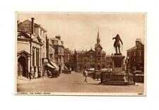 Buckinghamshire - Aylesbury, Market Square - Postcard Franked 1952