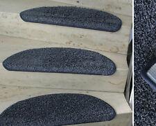 Mitex Treppenmatte Tapis D'Escalier Dura Velours Bleu - Gris Demi-Ronde 65x23 CM