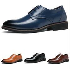 Men's Business Work Oxfords Polish Lace up Formal Low Top Faux Leather Shoes D