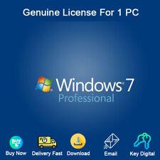 Windows 7 Pro 32/64bit Activation Download For 1 PC Genuine