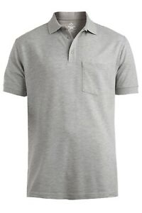 Blended Pique Polo with Pocket Short Sleeve Shirt Unisex