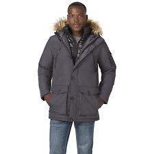 Men's Rocawear Big Hooded Parka with Bib Charcoal 5XL #NJHSL-670