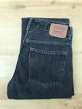Women's Levi's 505 Straight Leg Black Jeans W28 L27 (#A556)