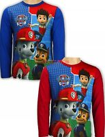 Disney Boys PAW PATROL Characters Long Sleeves Crew Neck T.Shirt Top 3 4 5 6 YRS