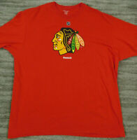 Men's Reebok NHL Chicago Blackhawks Hockey T-Shirt size XL Red