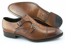 Men's TO BOOT NEW YORK 'Grant' Brown Monk Strap Leather Loafers Size US 11 - D