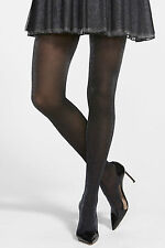New COMMANDO Starlight Shimmer Tights Pantyhose Black Gold S Small