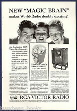 1934 RCA VICTOR radio advertisement, Magic Brain Tuning, model 281 radio RCA ad