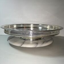 Wm rogers son post 1940 us silver plated antiques ebay wm rogers son lazy susan turntable 15 silverplate spring flower serving tray mightylinksfo
