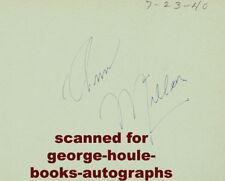 ANN MILLER~AUTOGRAPH~1940~TOO MANY GIRLS