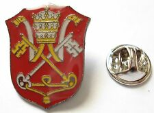 HOLY SEE Vatican Coat of Arms Pope Catholic Tie Tack Hat Jacket Lapel Pin