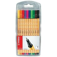 10 x Stabilo Point 88 Fineliner farbig sortiert , 10er Pack Tintenschreiber