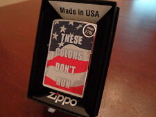 THESE COLORS DON'T RUN USA FLAG MILITARY ZIPPO LIGHTER MINT IN BOX