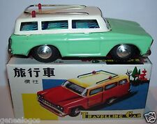JOUET TOLE TRAVELLING CAR FRICTION & SIREN CHINA 1960 REF MF731 ORIGINAL BOX a