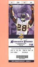 Adrian Peterson photo Minnesota Vikings 2010 tickets stub NFC Championship     Z