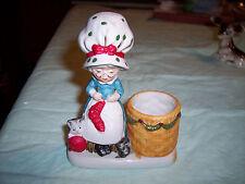 Vintage - Mrs. Claus Jasco 1978 Porcelain Christmas Candle Holder