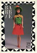 "Barbie Collectible Fashion Trading Card "" Studio Tour "" Dress, Cotton Hat 1967"