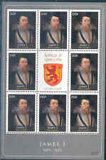 GAMBIA 2012 KINGS & QUEENS OF ENGLAND  KING JAMES I  SHEET OF EIGHT+LABEL