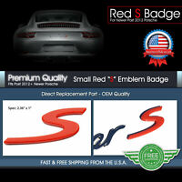 S Letter Script Rear Lid Trunk Boot Emblem Badge Porsche Cayenne 911 997 718 918
