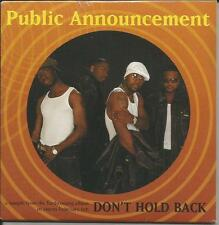 R. Kelly PUBLIC ANNOUNCEMENT Don't Hold w/RARE BAND INTRODUCTION PROMO CD SEALED