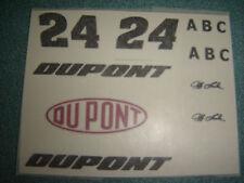 #24 Jeff Gordon Dupont Test Car A B C  WATER SLIDE DECAL SHEET 1/24