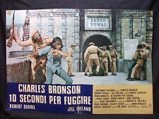 FOTOBUSTA CINEMA - 10 SECONDI PER FUGGIRE - C. BRONSON - 1975 - DRAMMATICO - 01