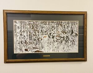BEV DOOLITTLE Woodland Encounter Matted & Framed Art Print