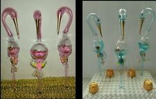 48pc Glass Stork comes with 24pink & 24blue Birthday,Baptism,keepsake Favor Pink