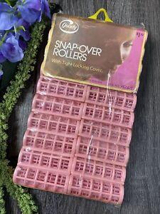 Vintage Goody Snap Over Hair Rollers Curlers Sealed 1973 Plastic 20 Medium Pink