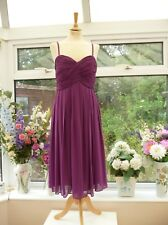 STUNNING HOBBS INVITATION MAUVE RUCHED BUST FLOATY SKIRT COCKTAIL PARTY DRESS 14