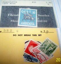 YUGOSLAVIA 1955 MINT STAMP #433 PLUS BONUS LOT 38