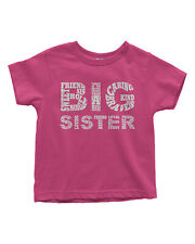 Big Sister Typography Toddler T-Shirt Birthday Gift Idea
