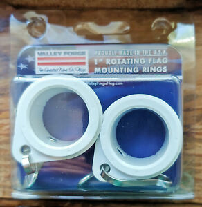 Valley Forge Flag 1-Inch Diameter Rotating Mounting Rings 2pc - Number 28219