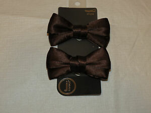 J by Crocs clips Bow JBC Sil RbnBw Silk Ribbon Bows 2pc brown shoe charm NEW set