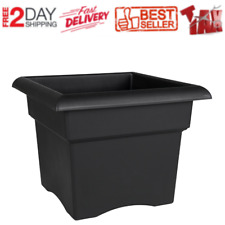 Square Plastic Planter 18 Inch Indoor Outdoor Flower Plant Pot Garden Home Large