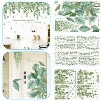 Aufkleber Blätter DIY Wandtattoo Sticker Tattoo Wald Grün Pflanze Wand Deko